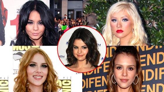 Vanessa Hudgens, Scarlett Johansson, Jessica Alba, Selena Gomez, Christina Aguilera