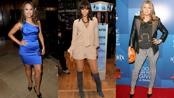 Cheryl Burke, Tyra Banks, Fergie