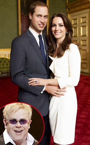 Kate Middleton, Prince William, Elton John