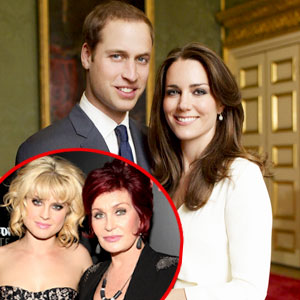 Kate Middleton, Prince William, Sharon Osbourne, Kelly Osbourne
