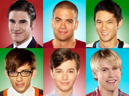 Glee, Darren Criss, Chord Overstreet, Harry Shum, Chris Colfer, Mark Salling, Kevin McHale