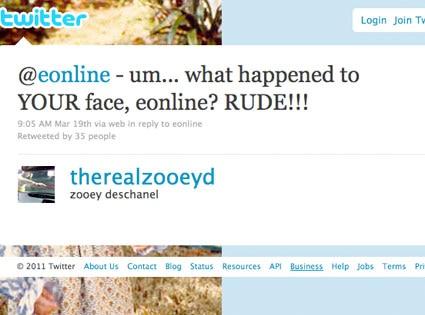 Zooey Deschanel, Twitter