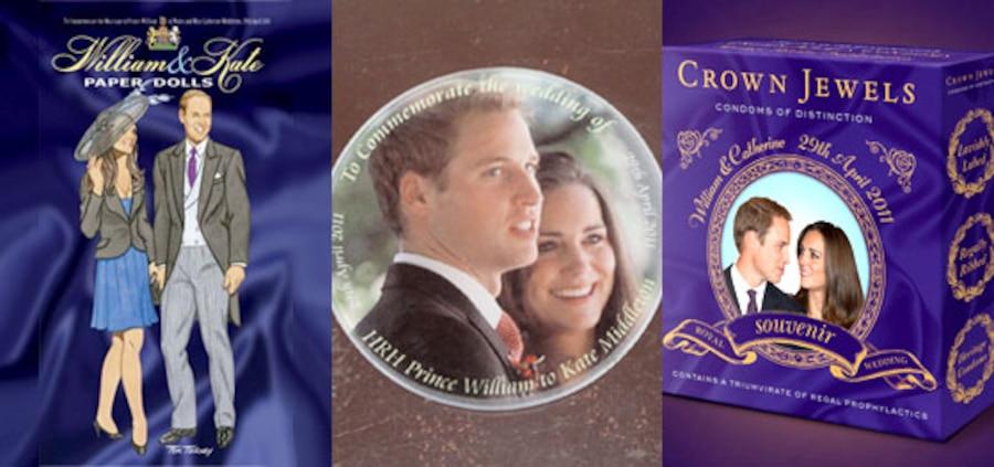 Kate Middleton, Prince William, Royal Wedding, Souvenir Paper Dolls, Coaster, Condoms