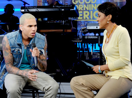 Chris Brown, Robin Roberts, GMA