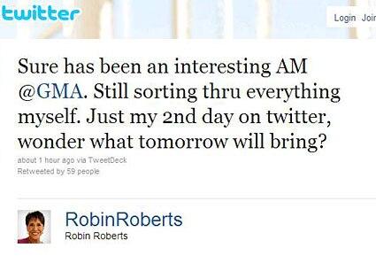 Robin Roberts, Twitter