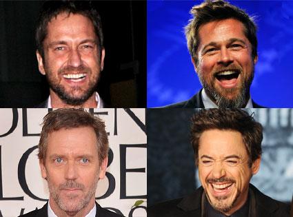 Brad Pitt, Gerard Butler, Robert Downey Jr., Hugh Laurie