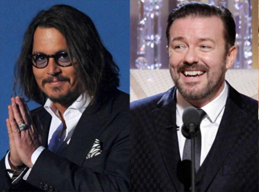 Johnny Depp, Ricky Gervais