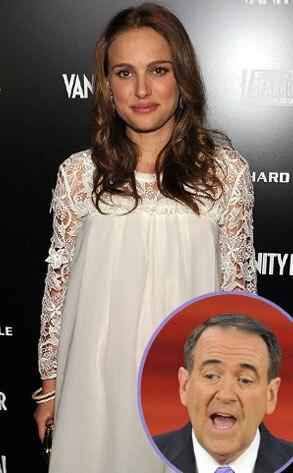 Natalie Portman, Mike Huckabee