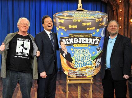Ben Cohen, Jerry Greenfield, Jimmy Fallon