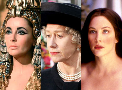 Elizabeth Taylor, Cleopatra, Helen Mirren, The Queen, Liv Tyler, The Lord of the Rings