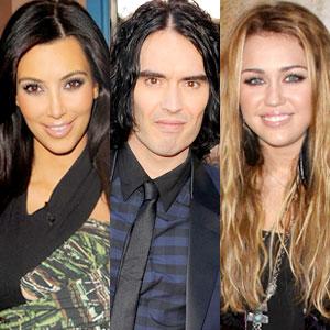 Kim Kardashian, Russell Brand, Miley Cyrus