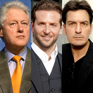 Bill Clinton, Bradley Cooper, Charlie Sheen