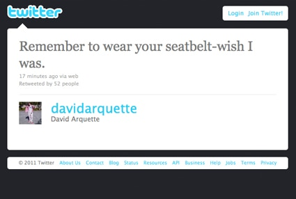 David Arquette, Twitter