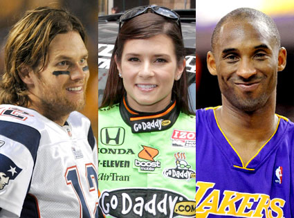 Tom Brady, Danica Patrick, Kobe Bryant
