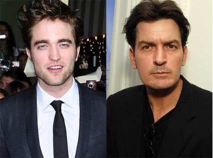 Charlie Sheen, Robert Pattinson