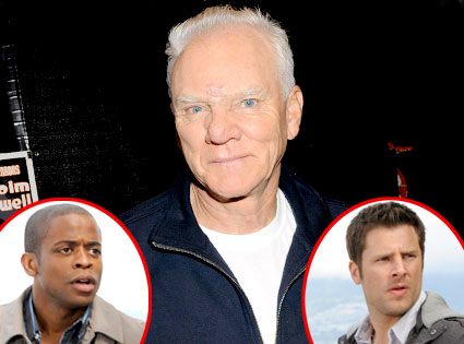 Malcolm McDowell, James Roday, Dule Hill
