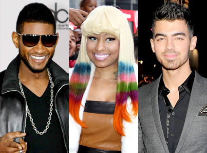 Usher, Nicki Minaj, Joe Jonas