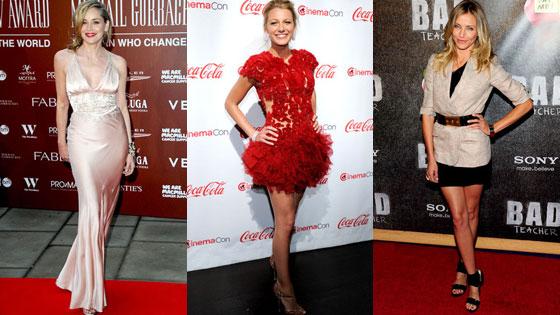Sharon Stone, Blake Lively, Cameron Diaz