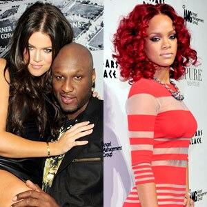Khloe Kardashian, Lamar Odom, Rihanna