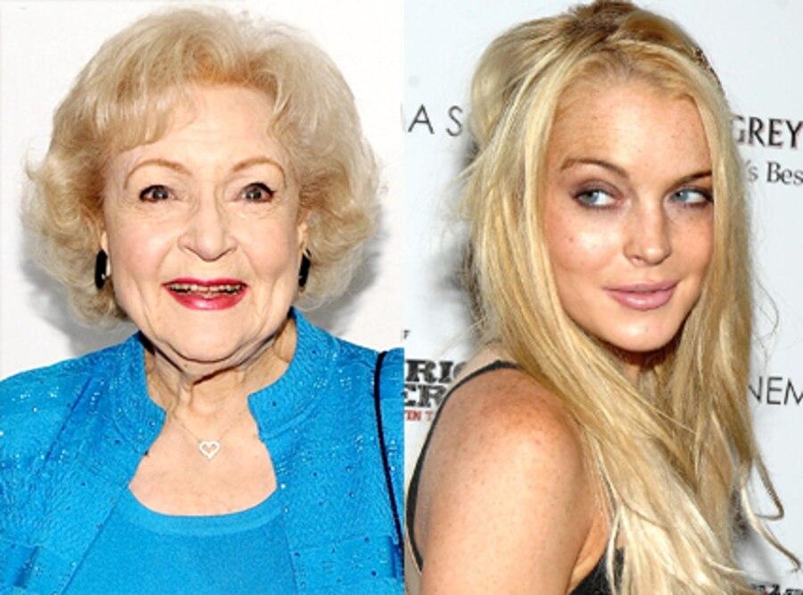 Betty White, Lindsay Lohan