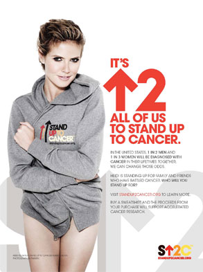 Heidi Klum, Stand Up 2 Cancer