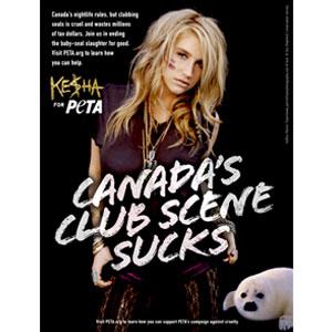 Kesha, PETA Ad