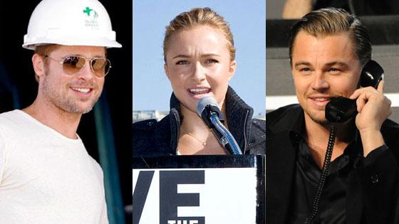 Leonardo Dicaprio, Brad Pitt, Hayden Panettiere