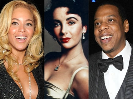 Beyonce, Elizabeth Taylor, Jay-Z