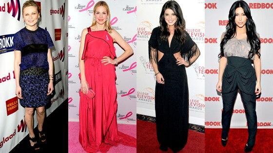 Kirsten Dunst, Kelly Rutherford, Shenae Grimes, Kim Kardashian