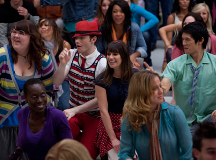 Glee, Chris Colfer, Lea Michele, harry Shum Jr.