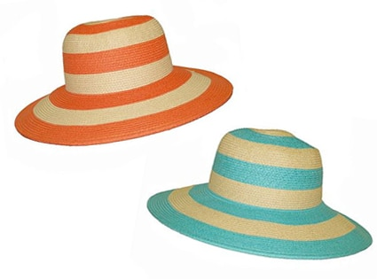 Croft and Barrow Striped Floppy Straw Hat