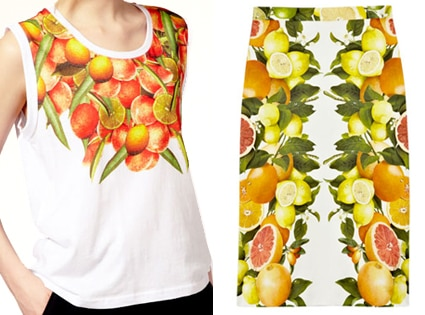 ASOS Oranges Tank, Stella McCartney Citrus- Print Cotton Skirt