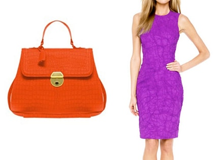 ASOS Faux Croc Lady Bag, MICHAEL KORS Crushed Georgette Dress