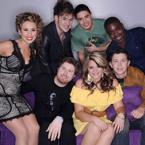 AMERICAN IDOL, Top 7, Haley Reinhart, James Durbin, Stefano Langone, Jacob Lusk, Scotty McCreery, Lauren Alaina and Casey Abrams