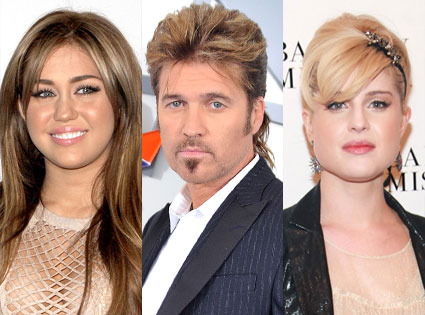 Kelly Osbourne, Miley Cyrus, Billy Ray Cyrus