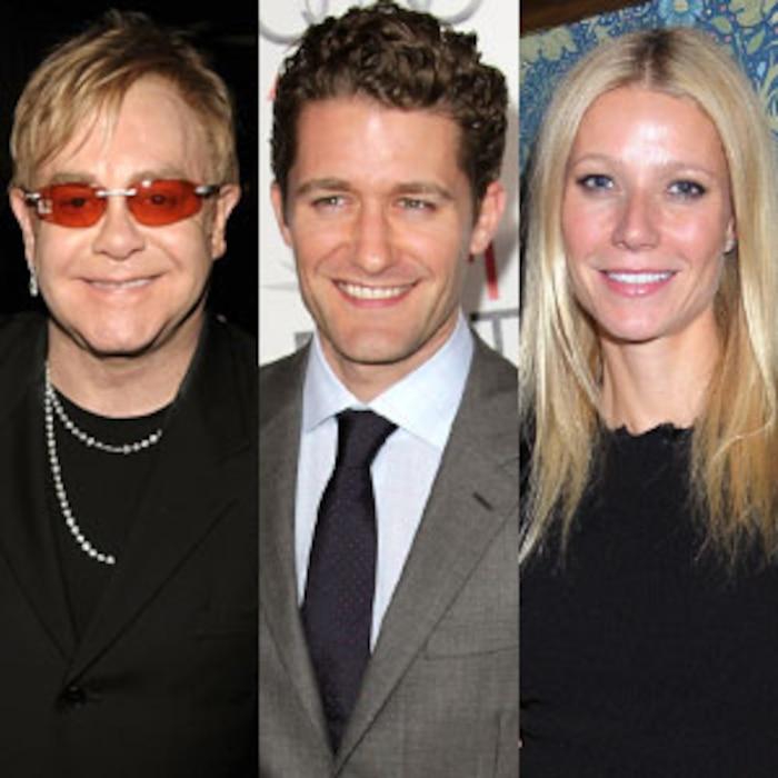Elton John, Matthew Morrison, Gwyneth Paltrow