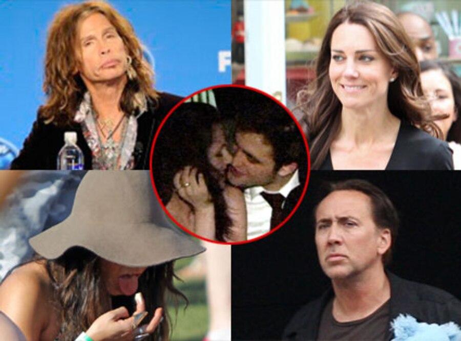 Vanessa Hudgens, Steven Tyler, Kate Middleton, Nicolas Cage, Kristen Stewart, Robert Pattinson