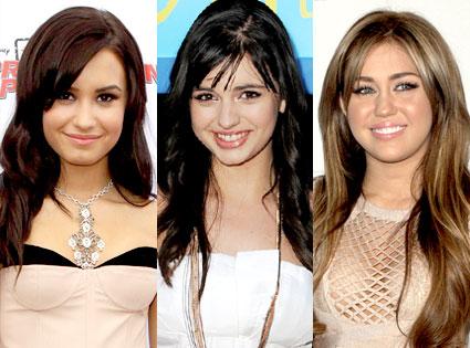 Demi Lovato, Rebecca Black, Miley Cyrus