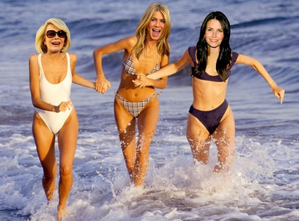 Joan Rivers, Courteney Cox, Jennifer Aniston
