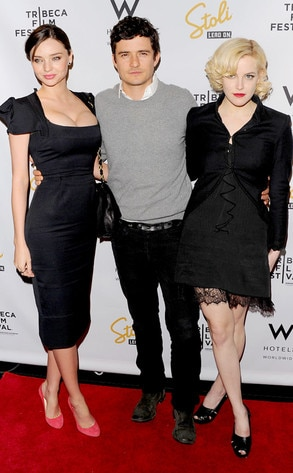 Orlando Bloom, Miranda Kerr, Riley Keough