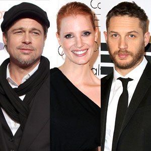 Brad Pitt, Jessica Chastain and Tom Hardy