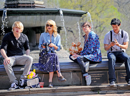 Chord Overstreet, Dianna Agron, Kevin McHale, Harry Shum Jr.