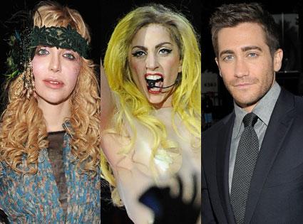 Lady Gaga, Jake Gyllenhaal, Courtney Love