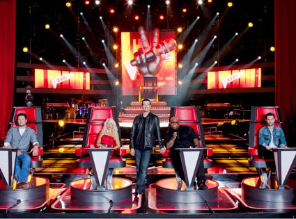 The Voice, Blake Shelton, Christina Aguilera, Carson Daly, Cee Lo Green, Adam Levine