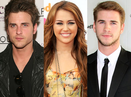 Miley Cyrus, Liam Hemswoth, Jared Followill