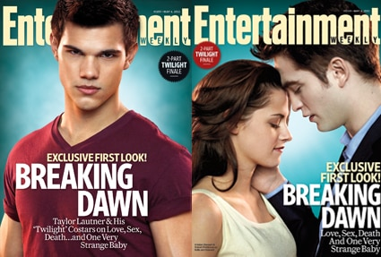 Taylor Lautner, Kristen Stewart, Rob Pattinson, Entertainment Weekly