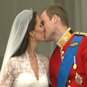 Prince William, Kate Middleton, Kiss
