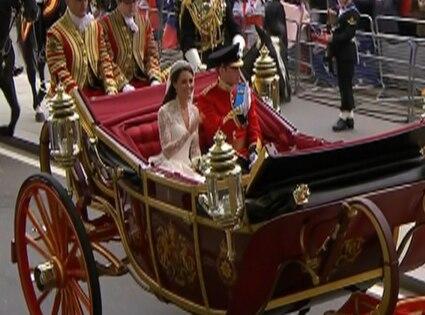 Prince William, Kate Middleton, Wedding Departure