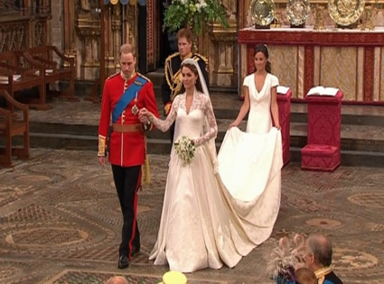 Prince William, Kate Middleton, Pippa, Prince Harry, Wedding Departure