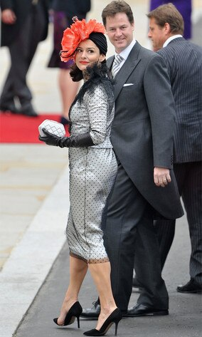 Deputy Prime Minister Nick Clegg and Miriam Gonzalez